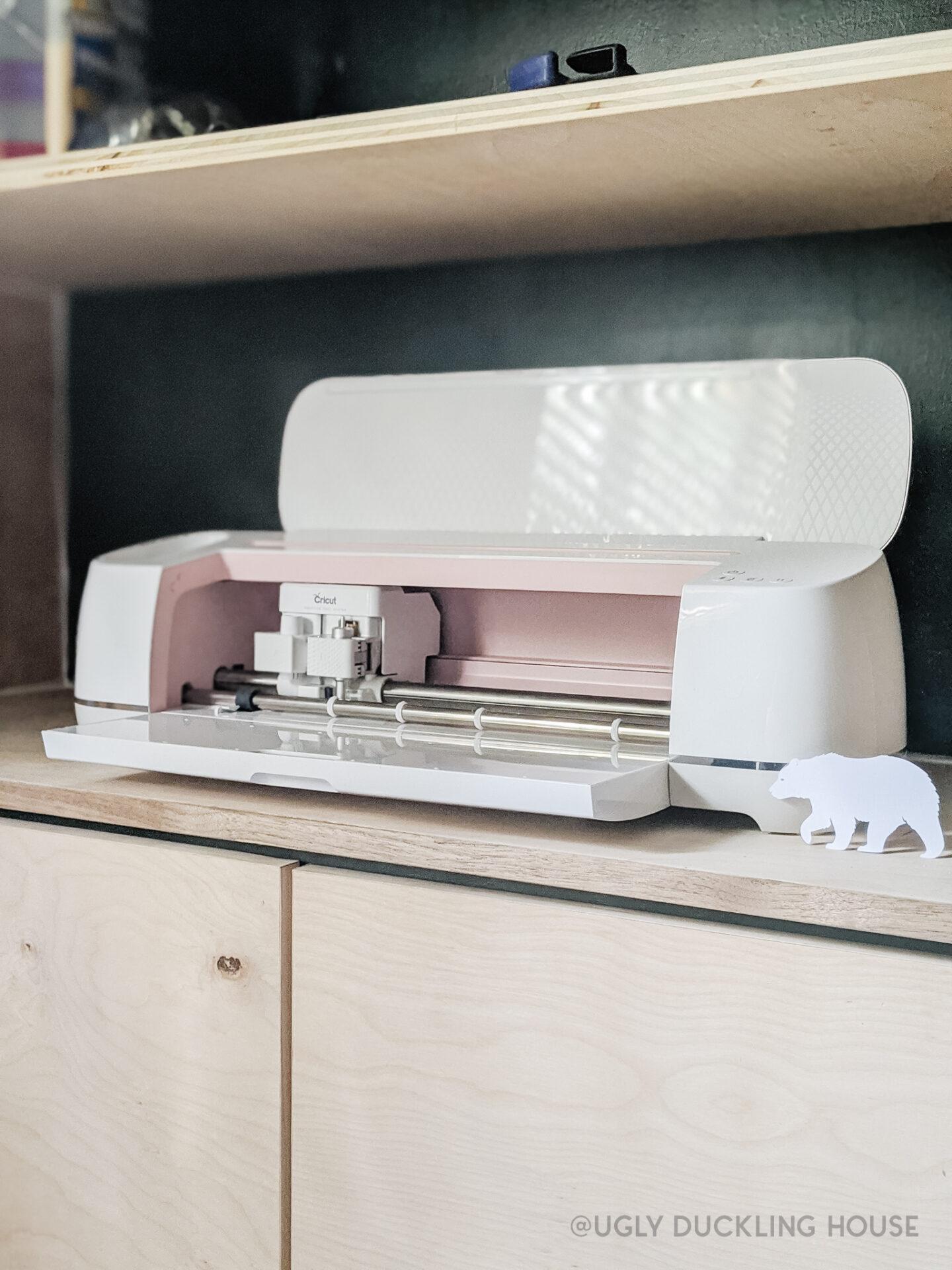 Cricut Maker machine set up in guest bedroom - easy setup