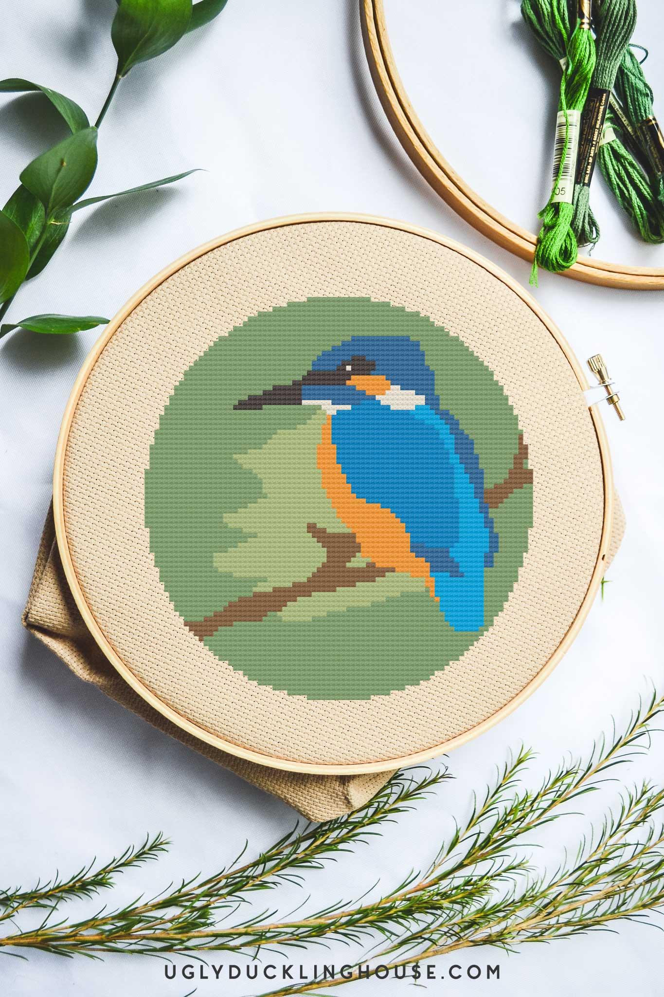 Kingfisher | Free Cross Stitch Pattern