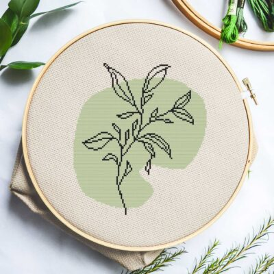 Abstract-Line-Botanical-V cross stitch
