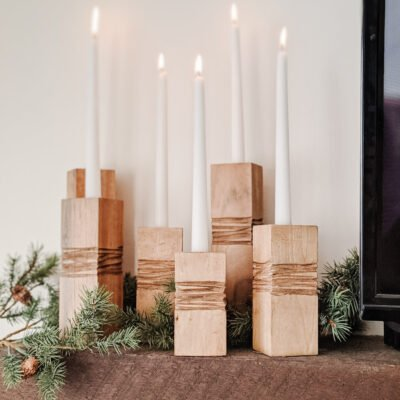 How to Make These Easy Minimalist Candle Holders