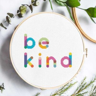 Be Kind | Free Cross Stitch Pattern