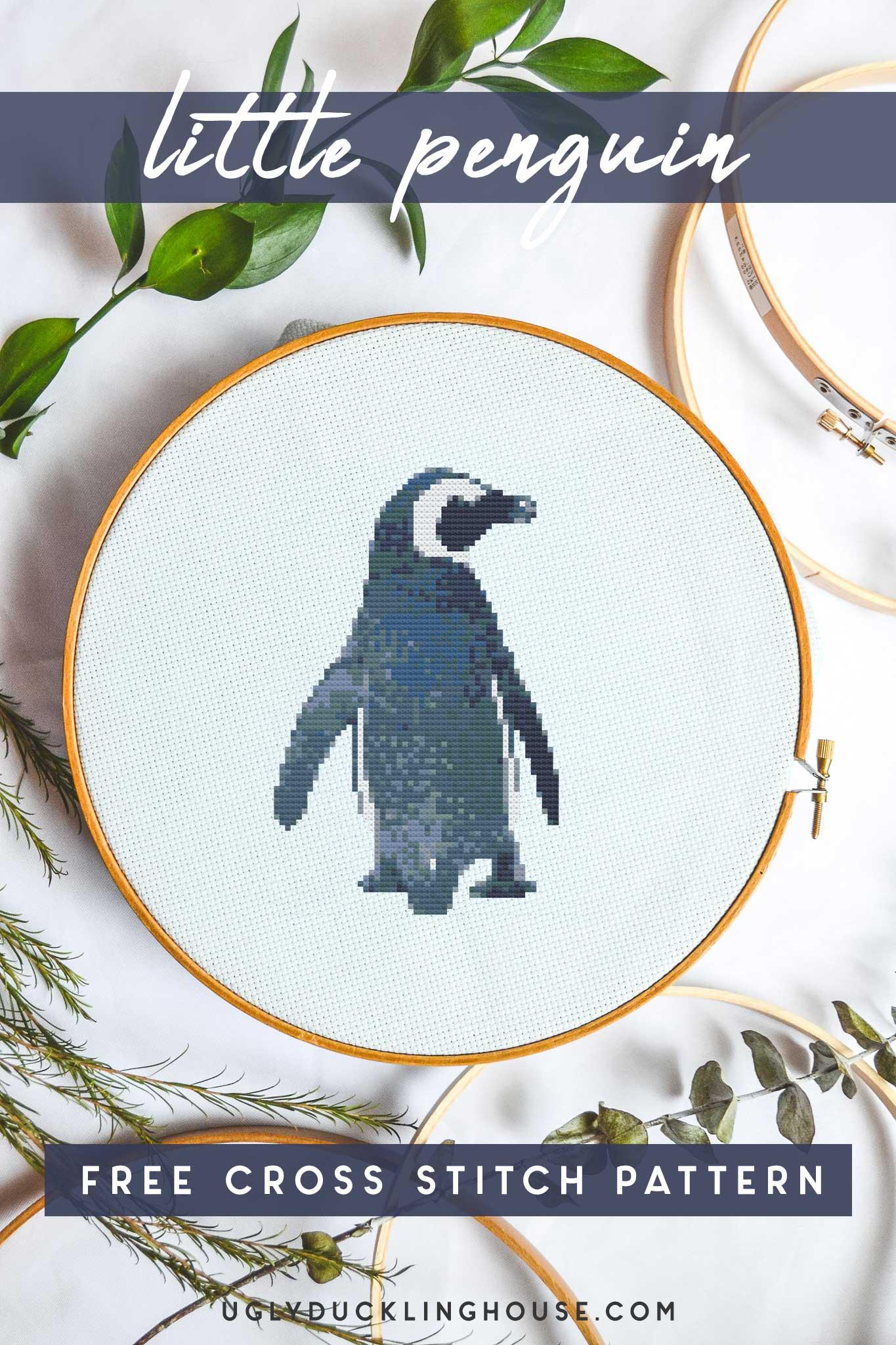 little penguin free cross stitch pattern