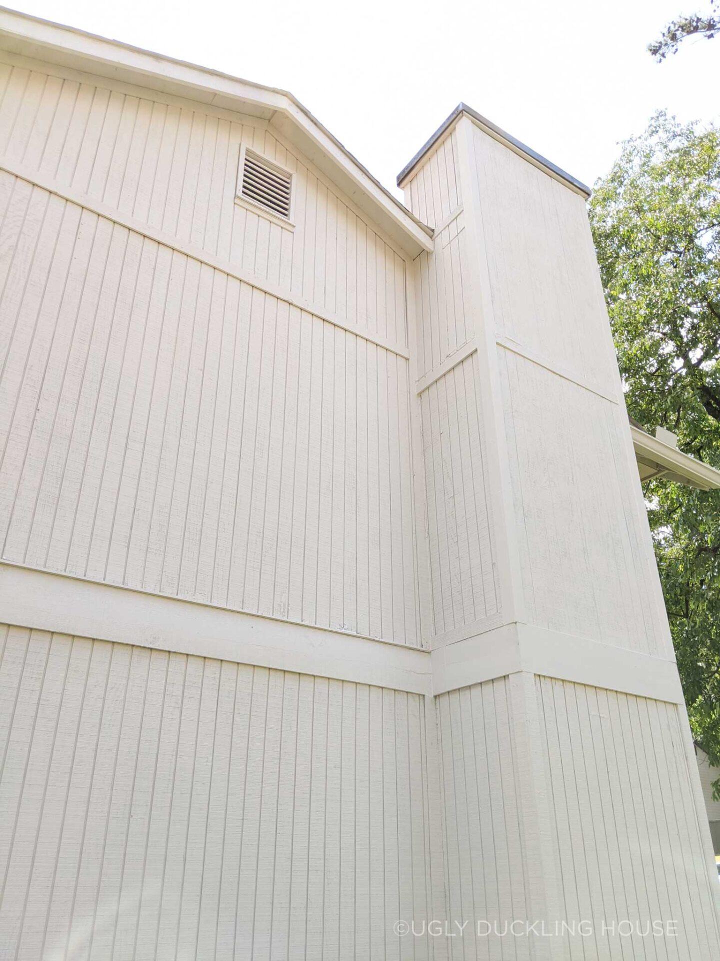 house siding after new Shoji White paint
