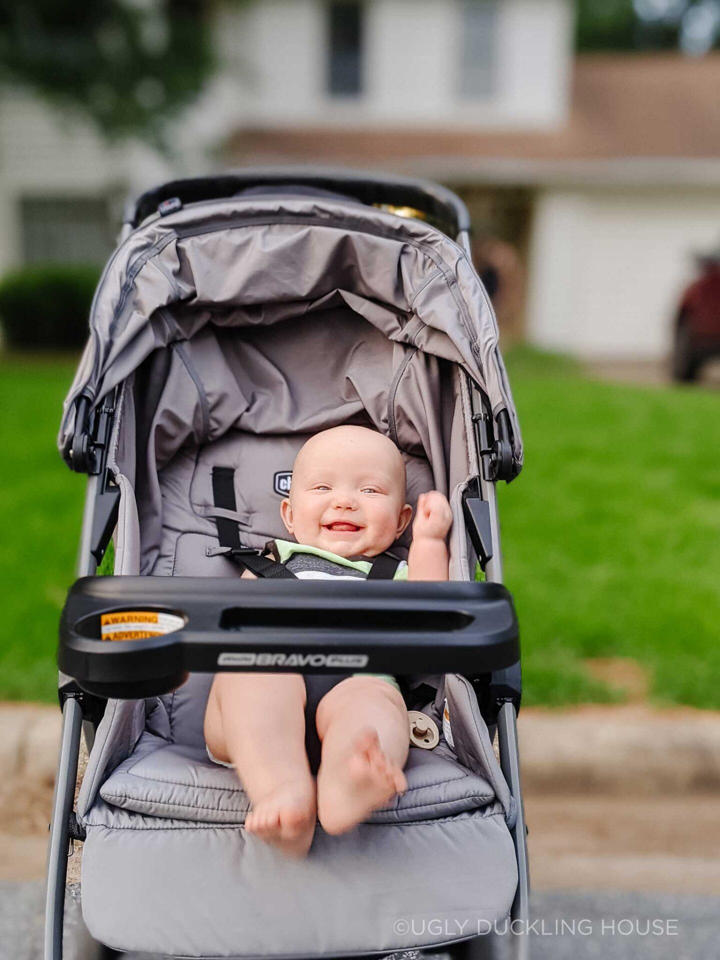 Ellis in his stroller on our nightly walks