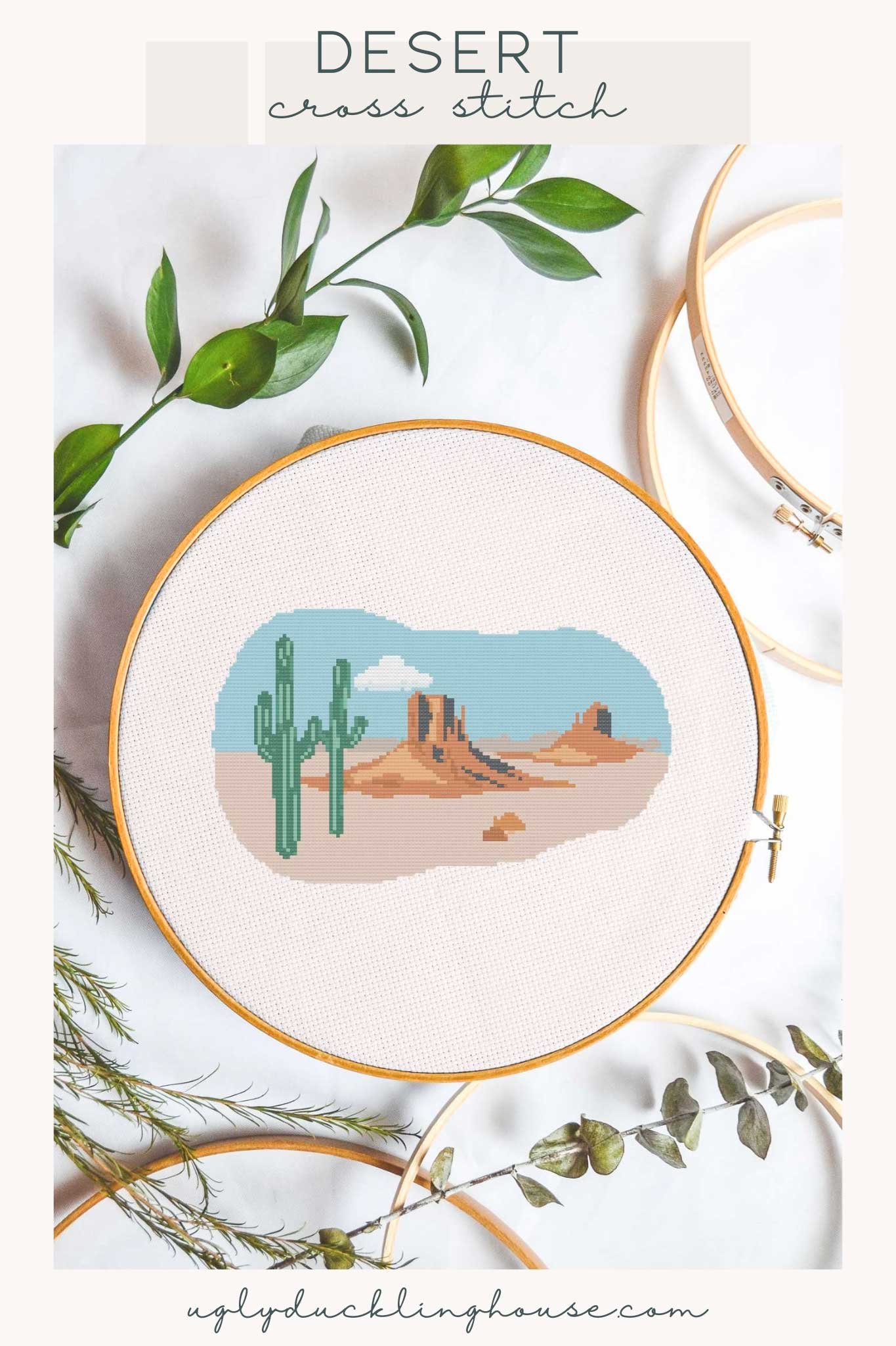 desert cross stitch pattern
