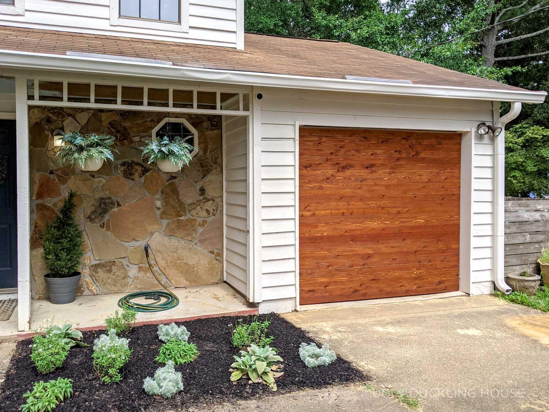 Cedar Garage Door Reveal! (Before and After)